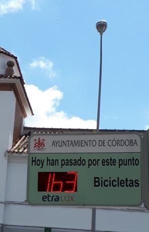 Contador de bicis en Avda. Campo Madre de Dios de Córdoba